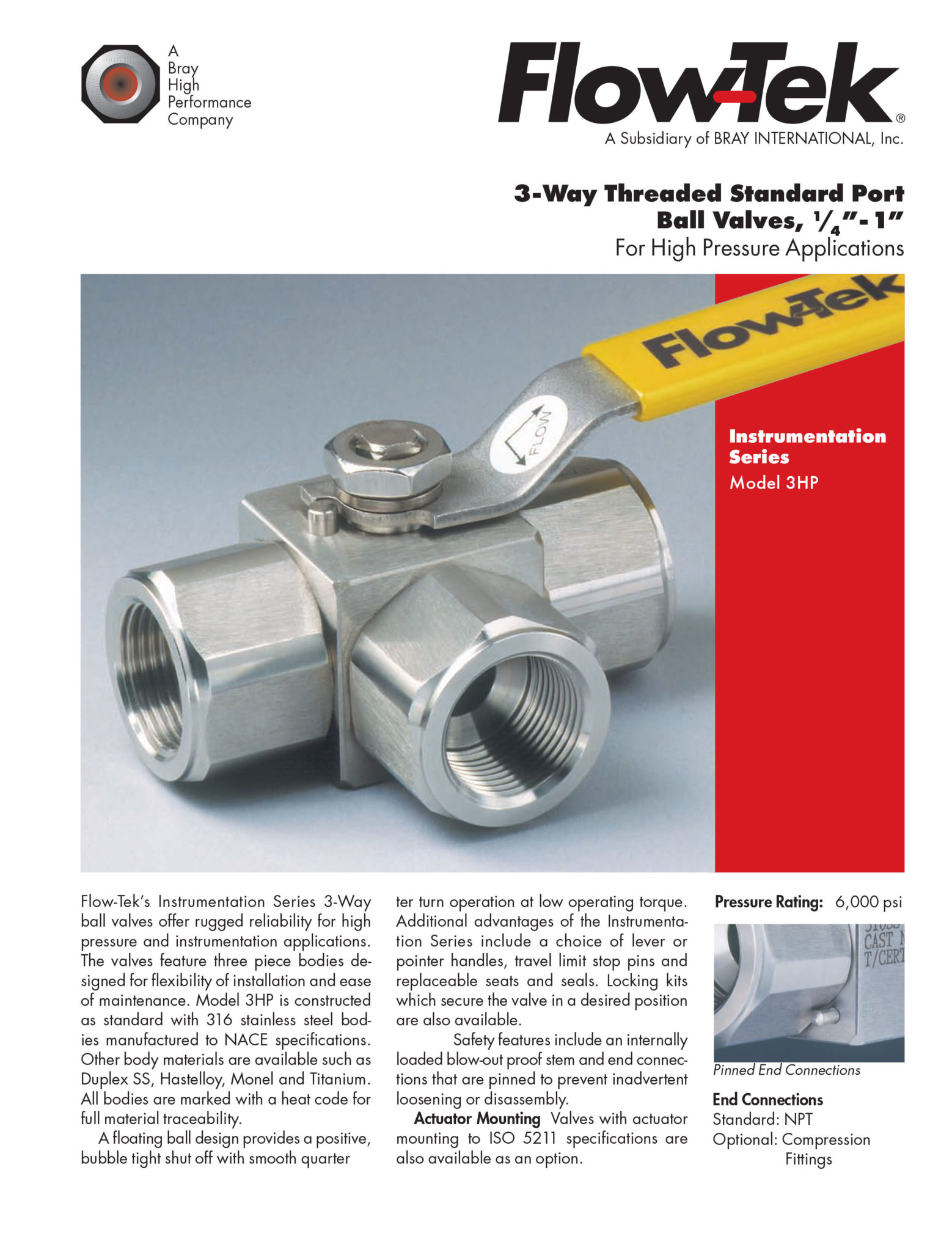 3-Way Threaded Standard Port